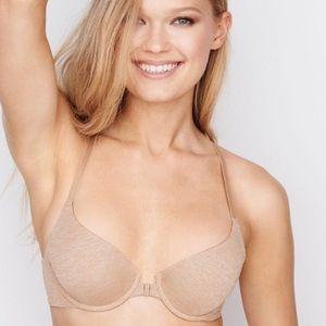 Victoria's Secret Push Up Nude Racerback Bra 36B